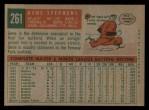 1959 Topps #261  Gene Stephens  Back Thumbnail