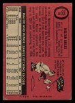 1969 O-Pee-Chee #60  Nelson Briles  Back Thumbnail