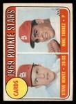 1969 O-Pee-Chee #136   -  Steve Huntz / Mike Torrez Cardinals Rookies Front Thumbnail