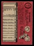 1969 O-Pee-Chee #194  Ted Uhlaender  Back Thumbnail