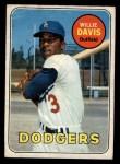 1969 O-Pee-Chee #65  Willie Davis  Front Thumbnail