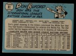 1965 O-Pee-Chee #81  Don Buford  Back Thumbnail