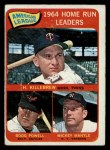 1965 O-Pee-Chee #3   -  Harmon Killebrew / Mickey Mantle / Boog Powell AL HR Leaders Front Thumbnail