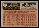 1966 O-Pee-Chee #77  Johnny Orsino  Back Thumbnail
