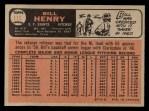 1966 O-Pee-Chee #115  Bill Henry  Back Thumbnail