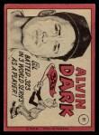 1969 O-Pee-Chee #91  Al Dark  Back Thumbnail