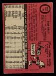 1969 O-Pee-Chee #98  Dave Giusti  Back Thumbnail