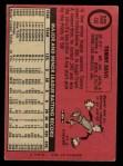 1969 O-Pee-Chee #135  Tommy Davis  Back Thumbnail