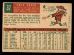 1959 Topps #37  Gene Green  Back Thumbnail