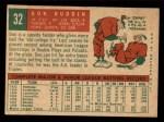 1959 Topps #32  Don Buddin  Back Thumbnail