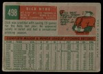 1959 Topps #498  Dick Hyde  Back Thumbnail