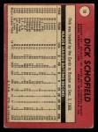 1969 O-Pee-Chee #18  Dick Schofield  Back Thumbnail