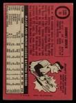 1969 O-Pee-Chee #95  Johnny Bench  Back Thumbnail