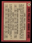 1969 O-Pee-Chee #206   -  Larry Hisle / Barry Lersch Phillies Rookies Back Thumbnail