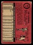 1969 O-Pee-Chee #130  Carl Yastrzemski  Back Thumbnail