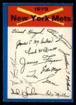 1973 O-Pee-Chee Blue Team Checklist #16   -      Mets Team Checklist Front Thumbnail