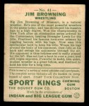 1933 Goudey Sport Kings #41  Jim Browning   Back Thumbnail
