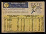 1970 O-Pee-Chee #22  Ray Washburn  Back Thumbnail