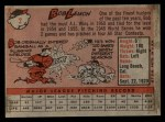 1958 Topps #2 WT Bob Lemon  Back Thumbnail