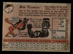 1958 Topps #34  Bob Thurman  Back Thumbnail