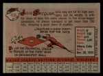 1958 Topps #458  Julio Becquer  Back Thumbnail