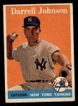 1958 Topps #61 ^WN^ Darrell Johnson  Front Thumbnail