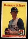 1958 Topps #82  Ron Kline  Front Thumbnail