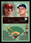 1999 Topps #220 AE  -  Mark McGwire Home Run 31 Back Thumbnail