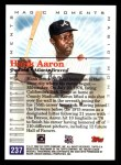 2000 Topps #237 E  -  Hank Aaron Magic Moments Back Thumbnail
