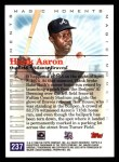 2000 Topps #237 D  -  Hank Aaron Magic Moments Back Thumbnail