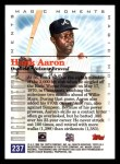 2000 Topps #237 C  -  Hank Aaron Magic Moments Back Thumbnail