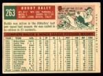 1959 Topps #263  Bud Daley  Back Thumbnail