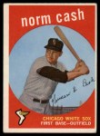 1959 Topps #509  Norm Cash  Front Thumbnail