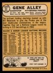 1968 Topps #52  Bob Hawk Taylor  Back Thumbnail