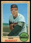 1968 Topps #478  Dave McNally  Front Thumbnail