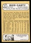 1968 Topps #455  Rico Carty  Back Thumbnail