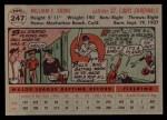 1956 Topps #247  Bill Sarni  Back Thumbnail