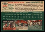 1954 Topps #222  Bill Wilson  Back Thumbnail