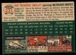 1954 Topps #231  Roy Smalley  Back Thumbnail