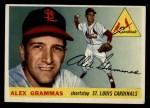1955 Topps #21  Alex Grammas  Front Thumbnail