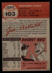 1953 Topps #103  Joe Astroth  Back Thumbnail