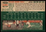 1954 Topps #144  Bill Werle  Back Thumbnail