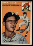 1954 Topps #84  Dick Cole  Front Thumbnail