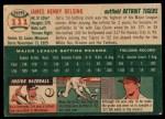 1954 Topps #111  Jim Delsing  Back Thumbnail