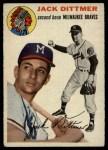 1954 Topps #53  Jack Dittmer  Front Thumbnail
