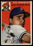 1954 Topps #16  Vic Janowicz  Front Thumbnail