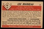 1953 Bowman #57  Lou Boudreau  Back Thumbnail