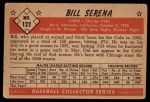 1953 Bowman #122  Bill Serena  Back Thumbnail