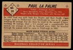 1953 Bowman B&W #19  Paul LaPalme  Back Thumbnail