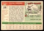 1955 Topps #10  Bob Keegan  Back Thumbnail